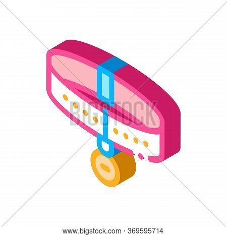 Collar Icon Vector. Isometric Collar Sign. Color Isolated Symbol Illustration