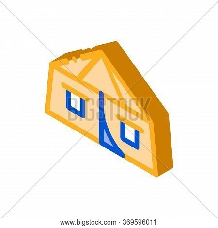Tourist Tent Icon Vector. Isometric Tourist Tent Sign. Color Isolated Symbol Illustration