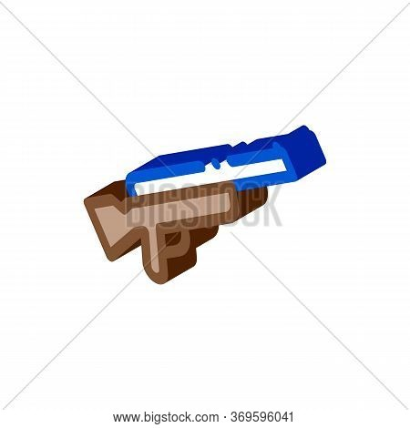 Gun Icon Vector. Isometric Gun Sign. Color Isolated Symbol Illustration