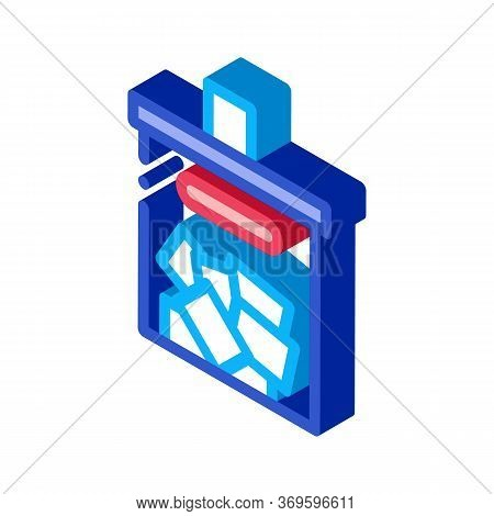 Ballot Box Icon Vector. Isometric Ballot Box Sign. Color Isolated Symbol Illustration