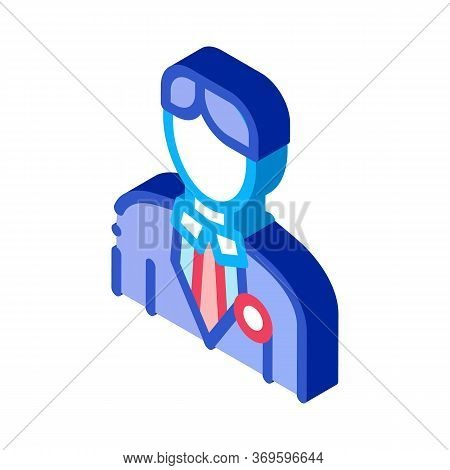 Candidate Appearance Icon Vector. Isometric Candidate Appearance Sign. Color Isolated Symbol Illustr