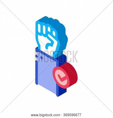 Cast Vote Icon Vector. Isometric Cast Vote Sign. Color Isolated Symbol Illustration