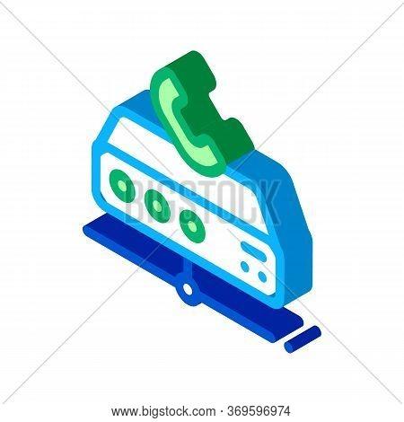 Digital Telecommunications Icon Vector. Isometric Digital Telecommunications Sign. Color Isolated Sy