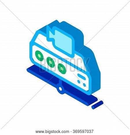 Digital Camcorder Icon Vector. Isometric Digital Camcorder Sign. Color Isolated Symbol Illustration