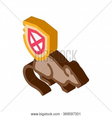 Rat Ban Icon Vector. Isometric Rat Ban Sign. Color Isolated Symbol Illustration