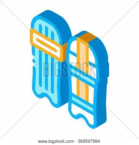 Skateboard Icon Vector. Isometric Skateboard Sign. Color Isolated Symbol Illustration