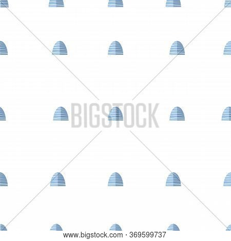 Seamless Blue And Gray Abstract Geometric Textured Pattern.
