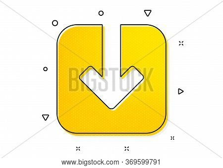 Download Arrowhead Symbol. Load Document Icon. Direction Or Pointer Sign. Yellow Circles Pattern. Cl