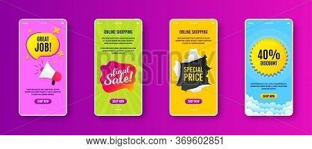 Final Sale Badge. Phone Screen Banner. Discount Banner Shape. Coupon Bubble Icon. Sale Banner On Sma