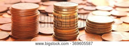 Money Finance Background With Coins Finance Concept