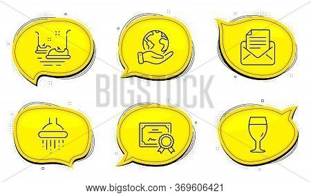 Bumper Cars Sign. Diploma Certificate, Save Planet Chat Bubbles. Mail Correspondence, Beer Glass And