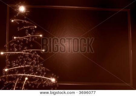 Abstract Chocolate Christmas Tree