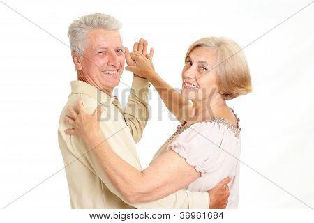 Beauteous elderly couple