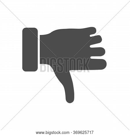 Dislike Gesture Solid Icon, Gestures Concept, Thumbs Down Finger Sign On White Background, Unlike Ge