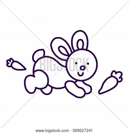 Rabbit Icon Isolated On White Background From Miscellaneous Collection. Rabbit Icon Trendy And Moder