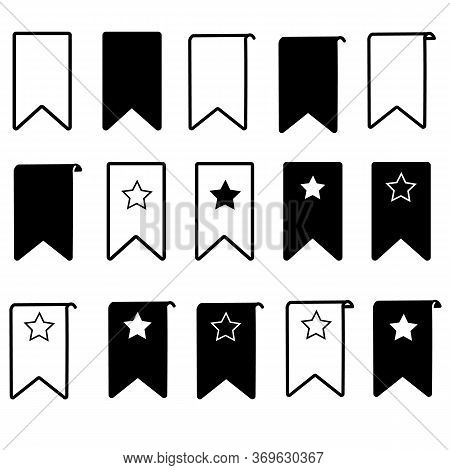Bookmark Icon On White Background. Flat Style. Black Bookmark Icon For Your Web Site Design, Logo, A