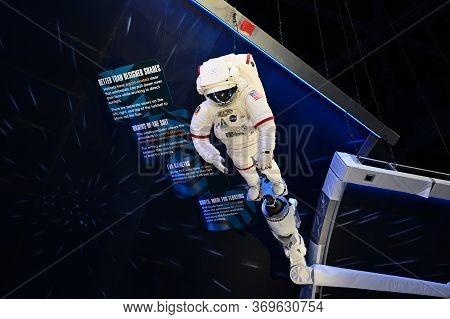 Kennedy Space Center, Merritt Island, Florida - May 30, 2020 - Shuttle Atlantis Display And Museum O