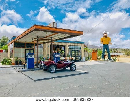 The Station, Famous Gas Station In The Middle Of The Desert On Palms Hwy, Joshua Tree. California. U
