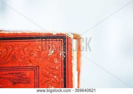 Corner Of Red Old Book, Close Up