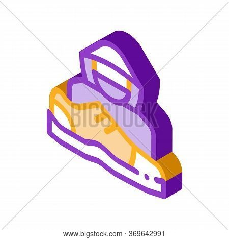 Shoes Shoplifter Human Icon Vector. Isometric Shoes Shoplifter Human Sign. Isolated Contour Symbol I
