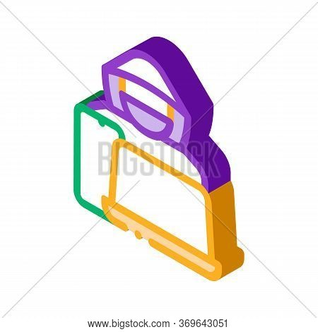 Theft Of Technology Laptop, Smartphone Icon Vector. Isometric Theft Of Technology Laptop, Smartphone