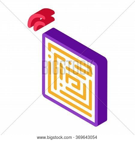 Disposable Anti-theft Stickers Icon Vector. Isometric Disposable Anti-theft Stickers Sign. Color Iso