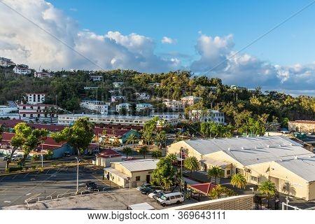 Charlotte Amalie, St. Thomas, United States V. Islands (usvi) - April 30, 2019: View Of The Shopping