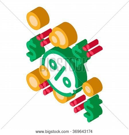 Interest-free Loans Icon Vector. Isometric Interest-free Loans Sign. Color Isolated Symbol Illustrat