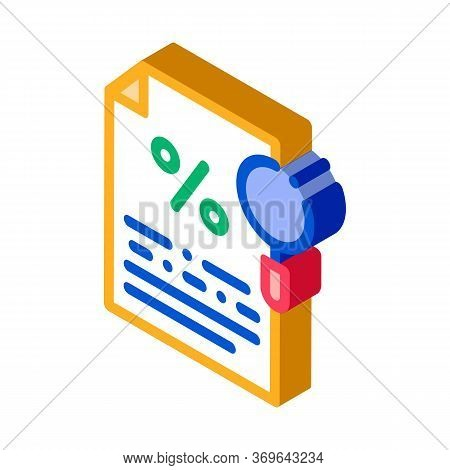 Study Of Interest Related Documentation Icon Vector. Isometric Study Of Interest Related Documentati