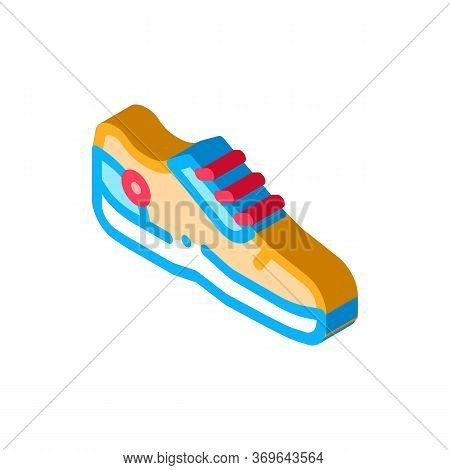 Special Sports Shoes Icon Vector. Isometric Special Sports Shoes Sign. Color Isolated Symbol Illustr