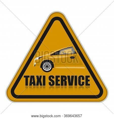 Orange Taxi Service Icon. Taxi Icon. Taxi Illustration.