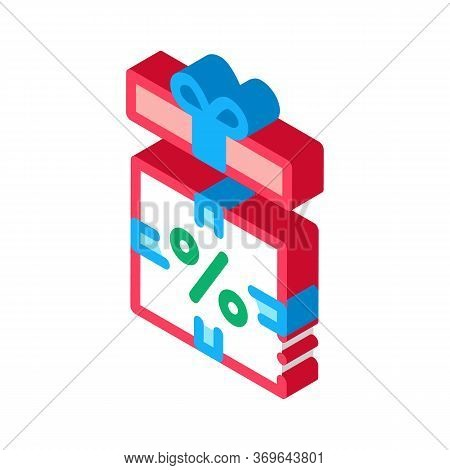 Open Interest Gift Icon Vector. Isometric Open Interest Gift Sign. Color Isolated Symbol Illustratio