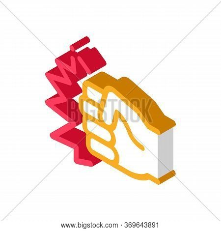 Strength Fist Punch Icon Vector. Isometric Strength Fist Punch Sign. Color Isolated Symbol Illustrat