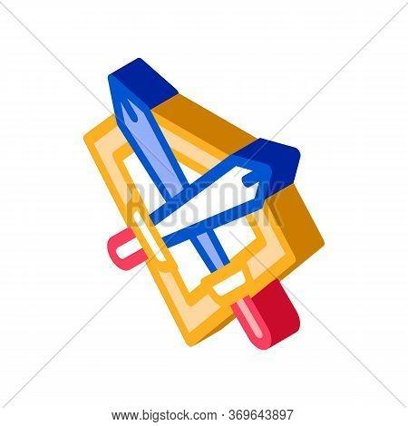 Emblem Of Defender Icon Vector. Isometric Emblem Of Defender Sign. Color Isolated Symbol Illustratio