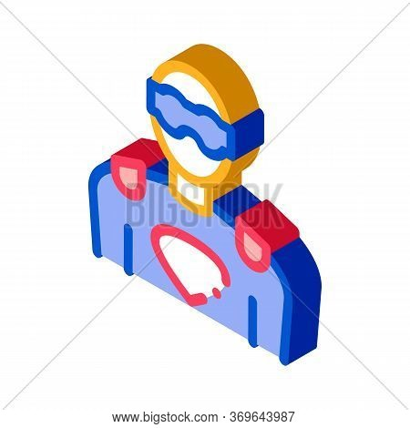 Face Mask Super Hero Icon Vector. Isometric Face Mask Super Hero Sign. Color Isolated Symbol Illustr