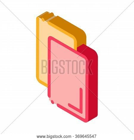 Cards Notice Or Remove Icon Vector. Isometric Cards Notice Or Remove Sign. Color Isolated Symbol Ill