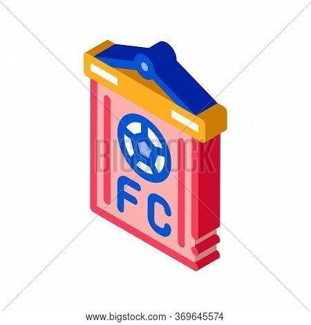 Soccer Command Flag Icon Vector. Isometric Soccer Command Flag Sign. Color Isolated Symbol Illustrat