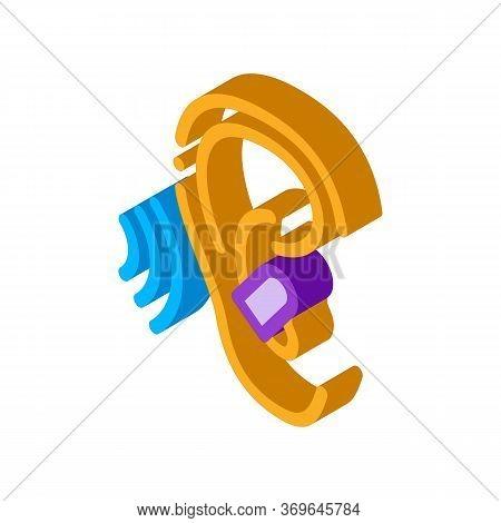 Ear Plug For Sleeping Icon Vector. Isometric Ear Plug For Sleeping Sign. Color Isolated Symbol Illus