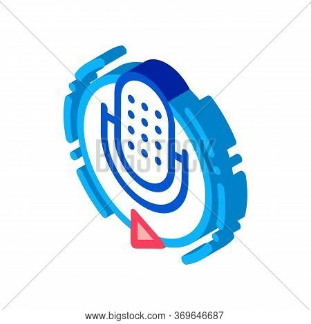 Broadcasting Microphone Icon Vector. Isometric Broadcasting Microphone Sign. Color Isolated Symbol I
