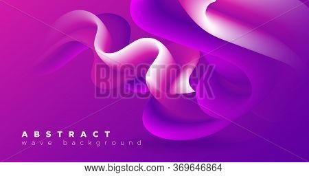 Pink Wave Background. Fluid Graphic Movement. Vibrant Pattern. Color Digital Abstract Wave Backgroun