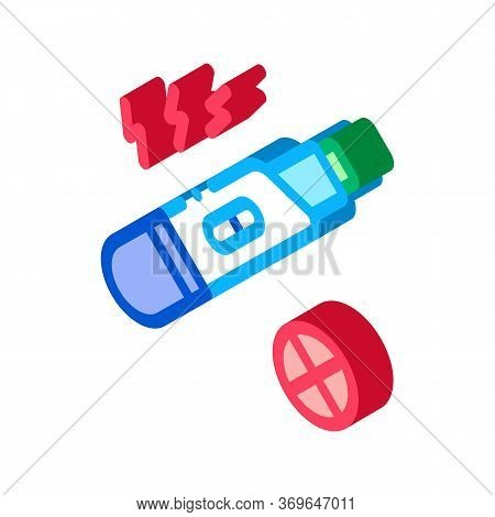 Negative Pregnancy Test Icon Vector. Isometric Negative Pregnancy Test Sign. Color Isolated Symbol I
