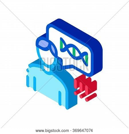 Man Genetic Molecule Icon Vector. Isometric Man Genetic Molecule Sign. Color Isolated Symbol Illustr