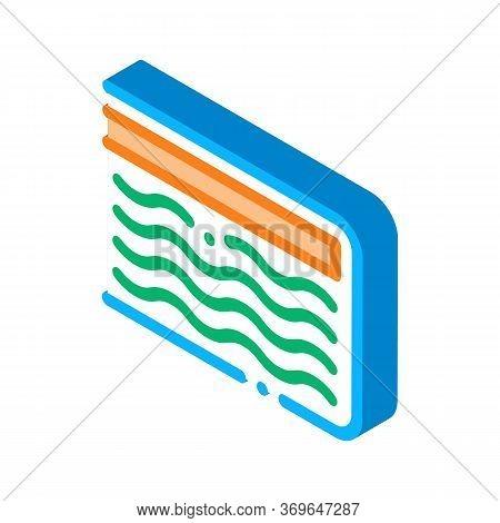 Mattress Memory Foam Icon Vector. Isometric Mattress Memory Foam Sign. Color Isolated Symbol Illustr