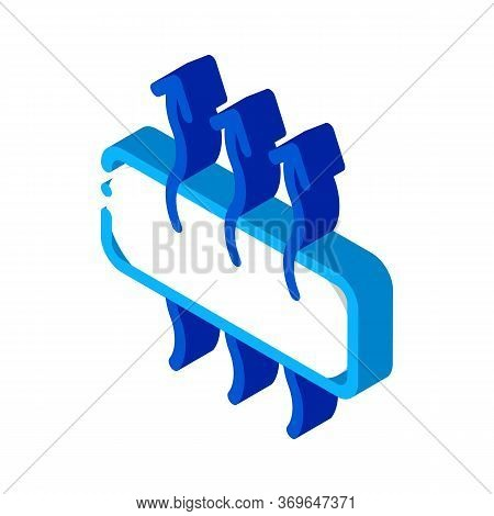 Breathable Mattress Icon Vector. Isometric Breathable Mattress Sign. Color Isolated Symbol Illustrat