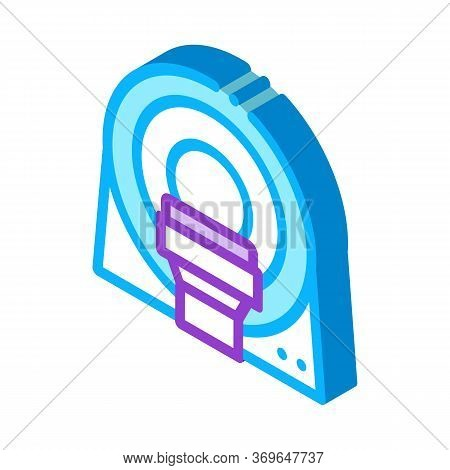 Mri Diagnosis Apparatus Icon Vector. Isometric Mri Diagnosis Apparatus Sign. Color Isolated Symbol I