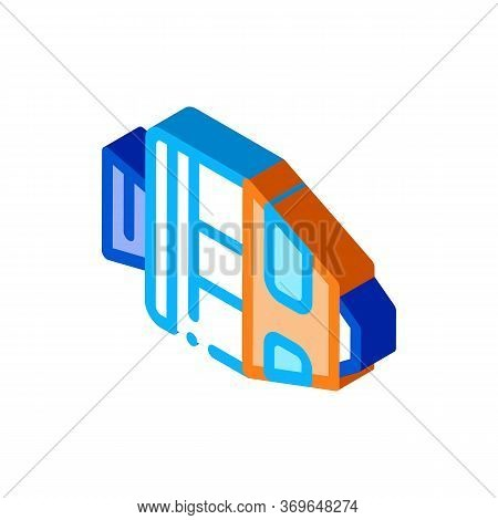 Spaceship Return Unit Icon Vector. Isometric Spaceship Return Unit Sign. Color Isolated Symbol Illus