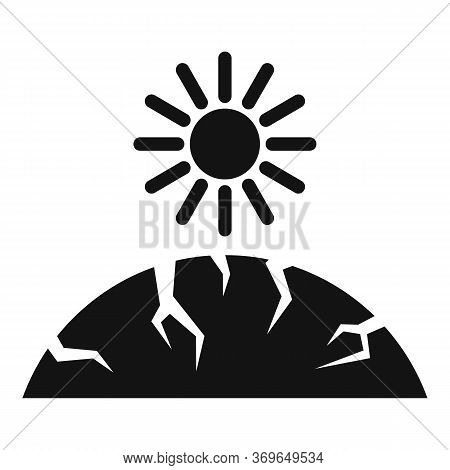 Sun Ground Drought Icon. Simple Illustration Of Sun Ground Drought Vector Icon For Web Design Isolat