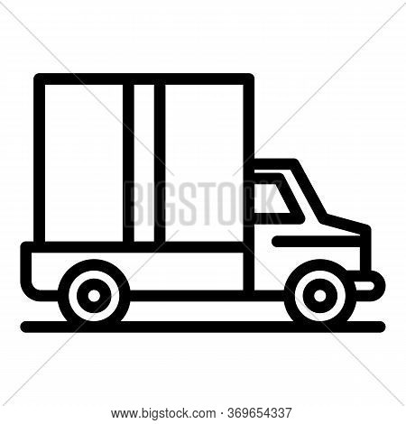 Van Parcel Delivery Icon. Outline Van Parcel Delivery Vector Icon For Web Design Isolated On White B