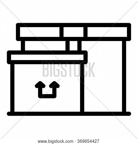 Postal Parcel Delivery Icon. Outline Postal Parcel Delivery Vector Icon For Web Design Isolated On W