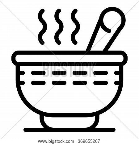 Hot Cereal Flakes Icon. Outline Hot Cereal Flakes Vector Icon For Web Design Isolated On White Backg
